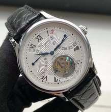 Luxo st8004 tourbillon relógio masculino couro de crocodilo calendário semana exibição mão enrolamento relógios mecânicos 5atm à prova dwaterproof água