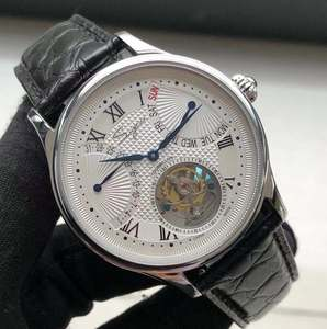 Image 1 - יוקרה ST8004 Tourbillon שעון גברים תנין עור לוח שנה תצוגת שבוע Mens יד Winding מכאני שעונים 5ATM עמיד למים