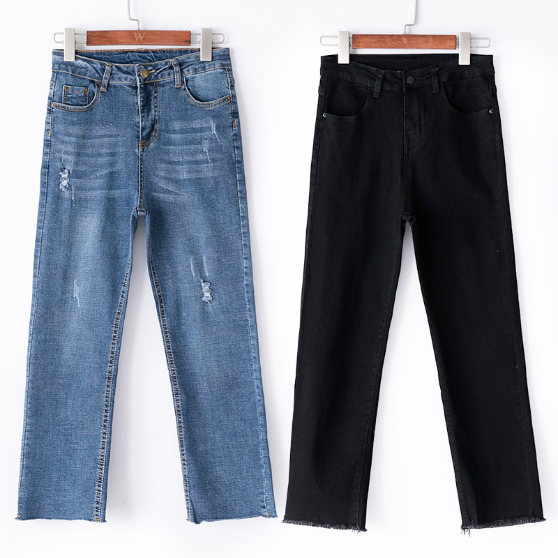 Прямые джинсы для женщин большие размеры джинсы с высокой талией Большие размеры Штаны vaqueros mujer cintura alta taille haute Джинсы бойфренда