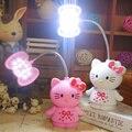 Милый кот энергосберегающие СВЕТОДИОДНЫЕ night light защита глаз Аккумуляторные настольная лампа студент спальня чтение настольная лампа для детей девушки подарок