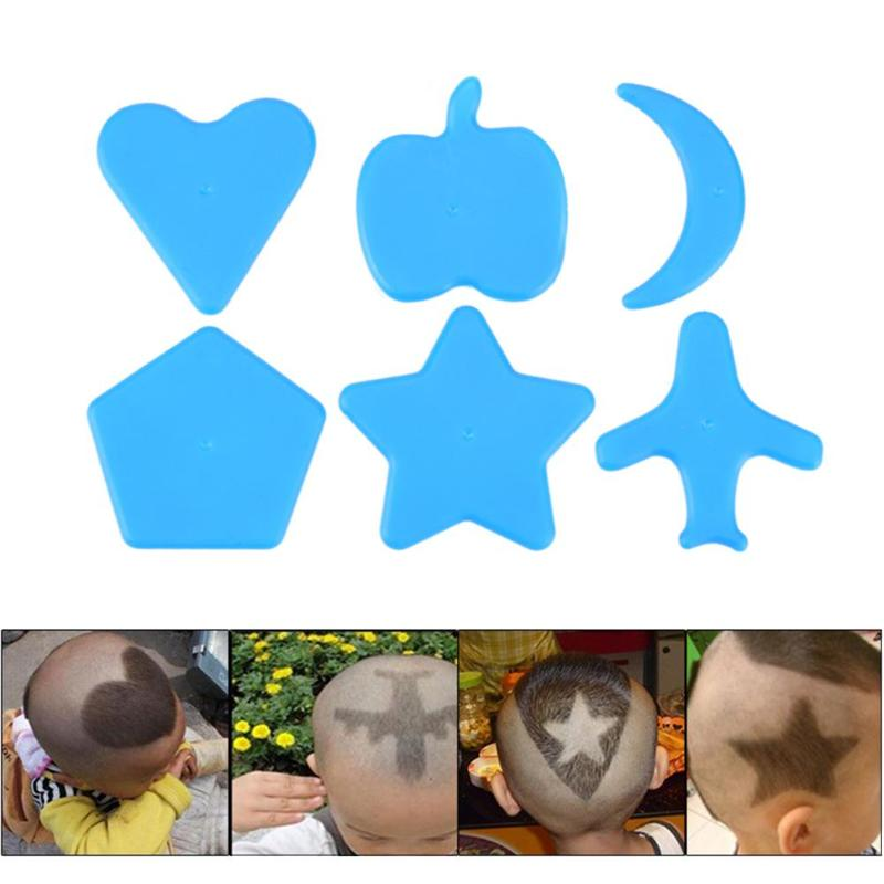 6pcs Heart Round Pattern Stencils Hair Tattoo Template Barber Hair Trimmer Hair Accessories Children Diy Hair Salon Tool Elegant In Style Styling Tools
