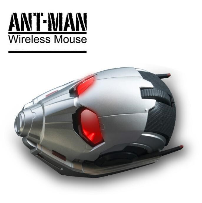 Ant-Man and the Wasp Cosplay ANT-MAN Blue Tooth Mouse Wireless Mask Shape Mouse Gaming Mouse Set Gift Gamer Option Drop Ship