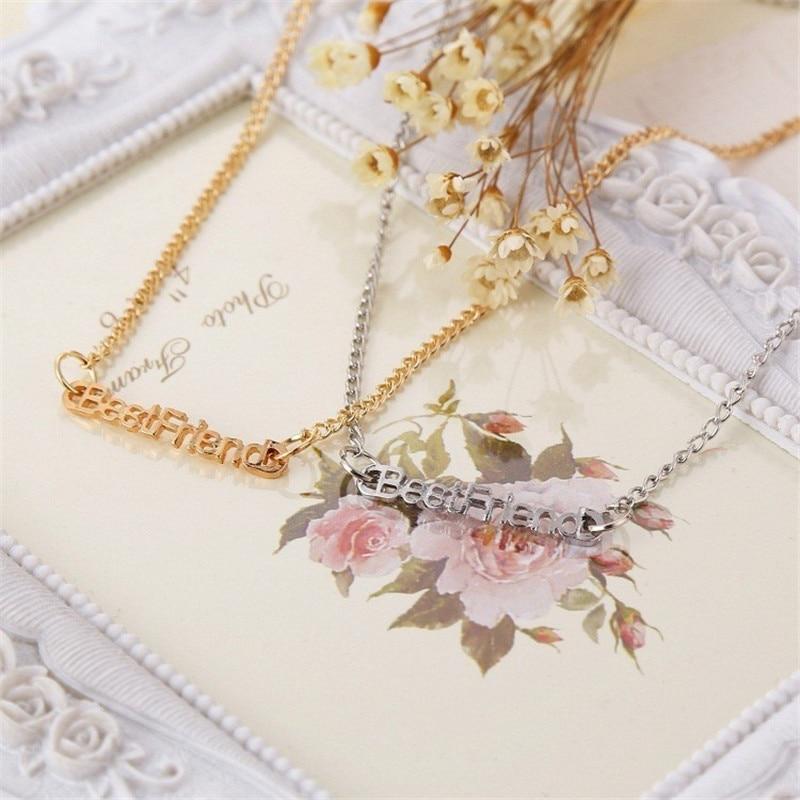 6c1086bce12d Diseño Popular mejor amigo Collar SENFAI marca plata oro color Collar Hign  calidad gargantilla Collar
