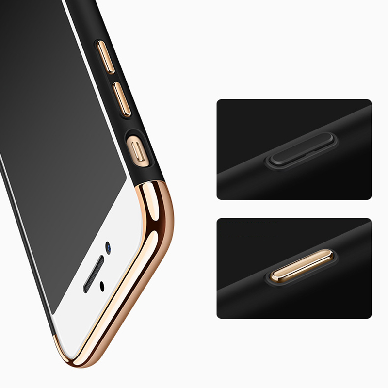 S8 S8Plus Electroplated Armor Case For Samsung Galaxy S7 S6 Edge Full Protect 3 IN 1 Hard PC Phone Cover Cases for Galaxy Note 8