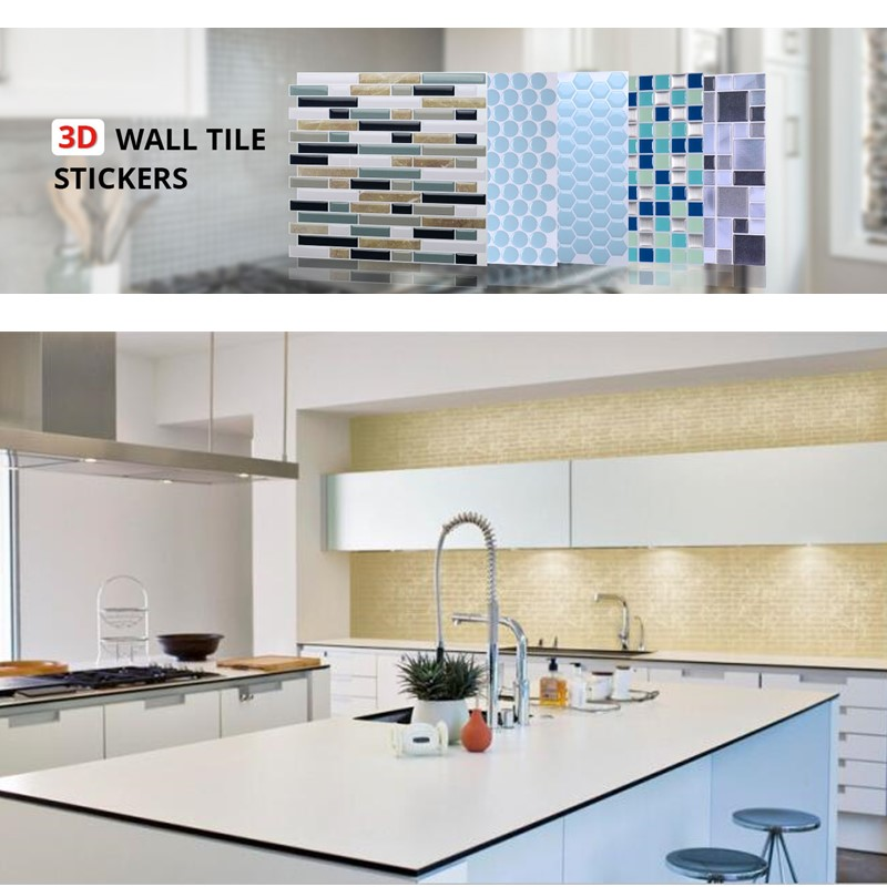 peel and stick self adhesive backsplash 3d mosaic tile wall sticker