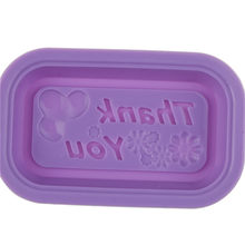 "Silicone ""thank you"" Ice Cube Chocolate Candy Moldes de Sabão Molde Do Bolinho Bolo Cupcake Ferramenta(China)"