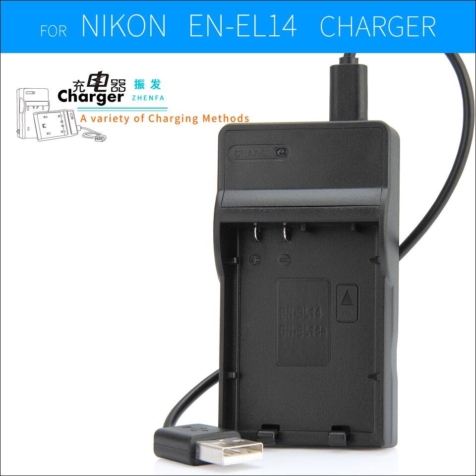 EN-EL14 EN EL14a EL14 Batterie MH-24 MH24 Chargeur Pour Nikon P7000 P7100 D3100 D3200 D3300 D5100 D5200 D5300 P7200 P7800 caméra