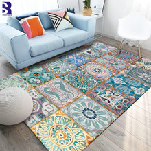 SunnyRain 1-piece Retro Printed Area Rugs for Living Room Rugs and Carpets for Kitchen