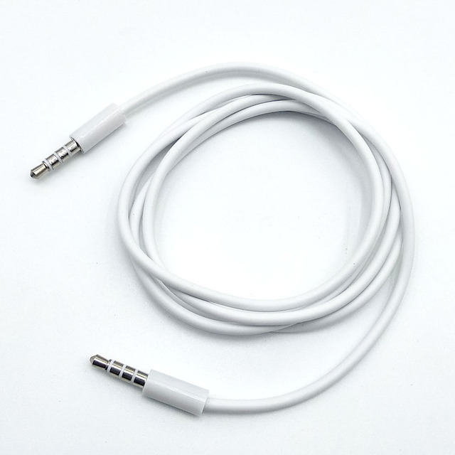2pcs/lot Male to male Audio Extension aux Cable jack 3.5mm 4 pole Female To Female Audio Cable Gold Plated Audio Cable