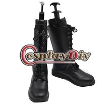 CosplayDiy Men's Shoes Final Fantasy XIII Noctis Lucis Caelum Black Boots Shoes Cosplay Custom Made