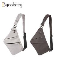 BYCOBECY New Men Nylon Chest Bag Ultralight Canvas Cross Body Shoulder Bag Waterproof Casual Short Trip