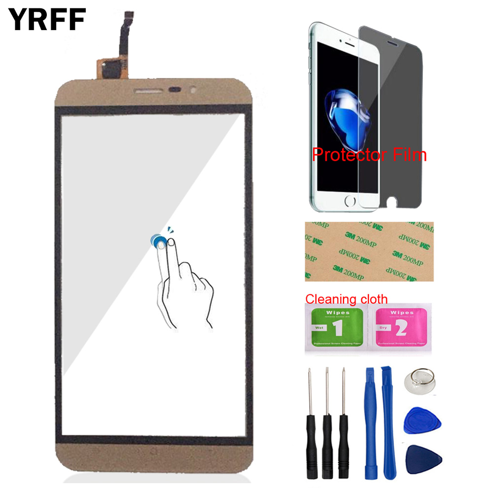 5.5inch Mobile Phone Touch Panel For Cubot Dinosaur Front Touch Screen Digitizer Panel Glass Lens Sensor Tools + Protector Film
