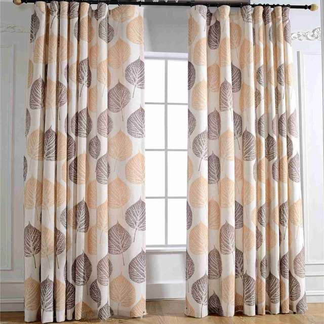 2019 Autumn leaves Custom Curtain Contracted Contemporary Curtains ...