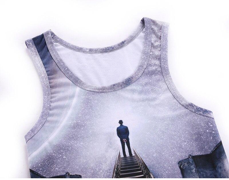Mr.1991in Летний жилет без рукавов 3D печати просмотр голубое небо творческое мышление Безрукавки для женщин Для мужчин/Для женщин для отдыха Дж...