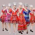 Tradicional chinesa clássica trajes de dança para as mulheres hmong roupas miao hmong tradicional-china roupas de vestuário nacional