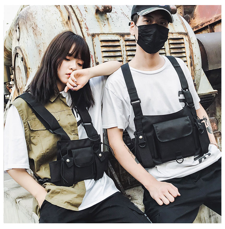 HTB1ZvseX4D1gK0jSZFKq6AJrVXaZ - Fashion Bullet Hip Hop Streetwear Vest Chest Bag For Women Functional Waistcoat Tactical Bags For Men Black Chest Rig Bags 233