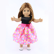 18-inch American girl dolls clothes manually white wedding dresses children Christmas gift free shipping  W19