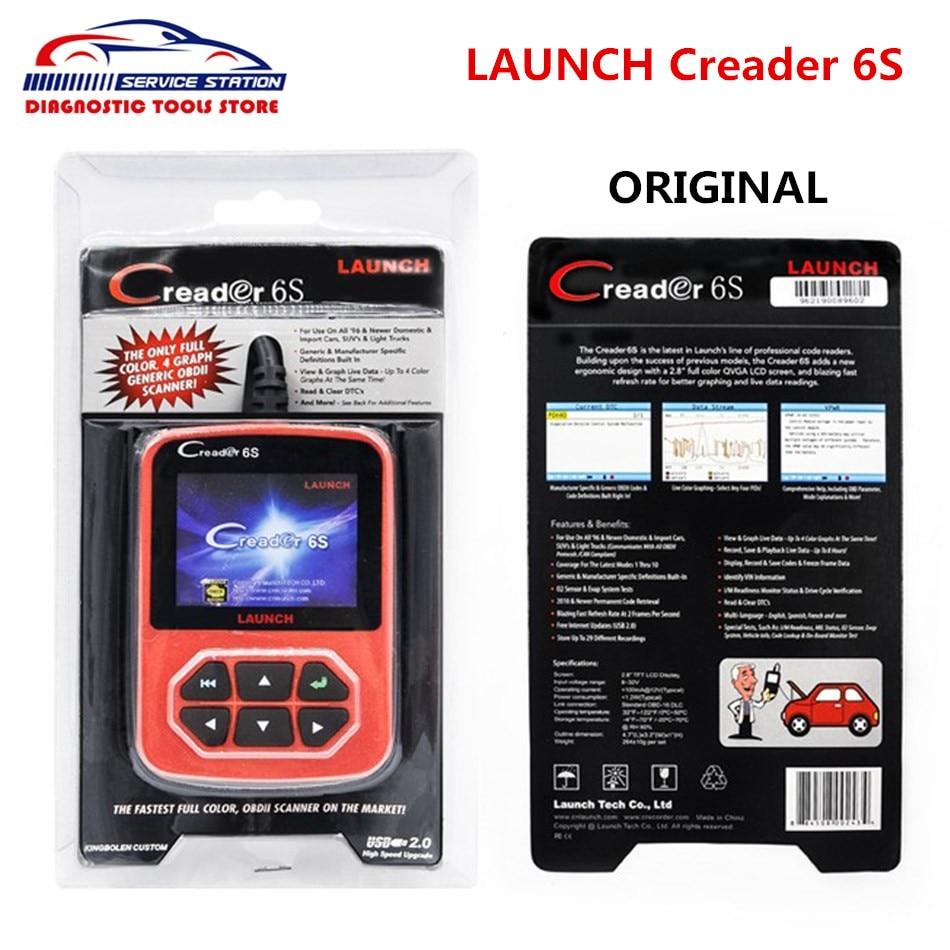 Original Launch X431 Creader VI Creader 6S Code Reader EU/USA/Asian Version Launch Creader 6S Update Online
