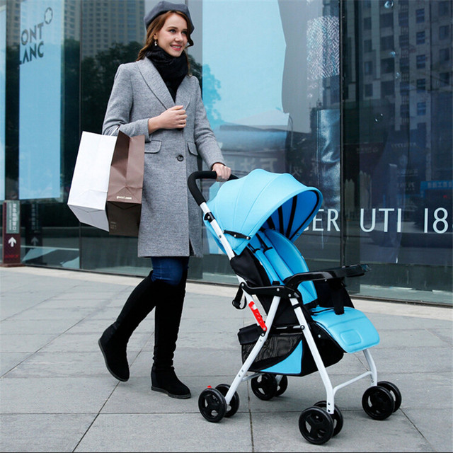 Lightweight umbrella stroller shock absorbers trolley baby car Folding stroller Wheeled Child Comveyances aluminum alloybuggiest