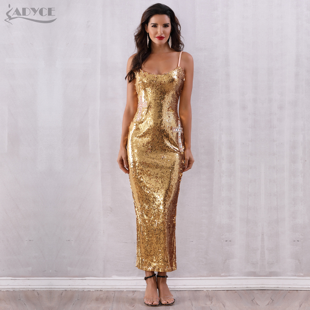 Backless Spaghetti Strap Sequin Club Dress 3