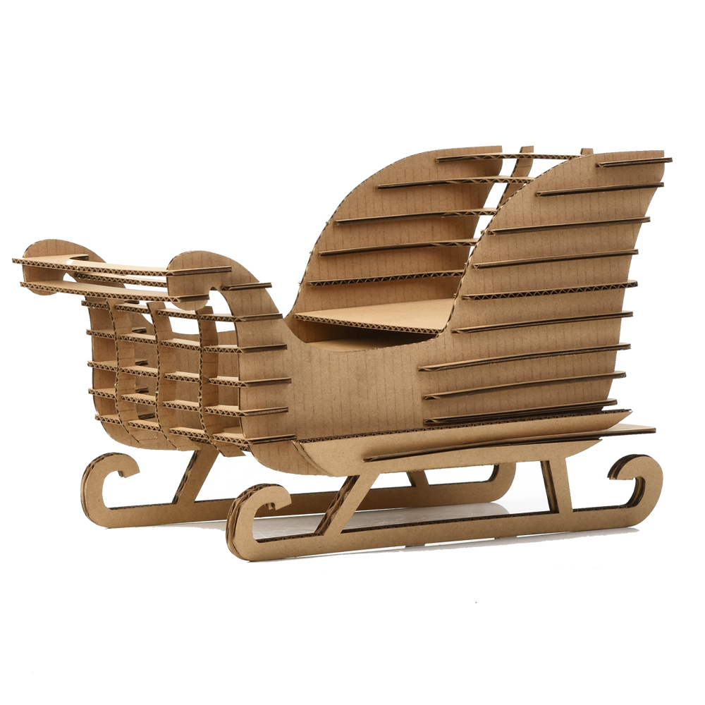 3d Puzzle Snow Sled Sleigh Sledge Model Paper Craft Christmas Decoration DIY Cool Adults ...