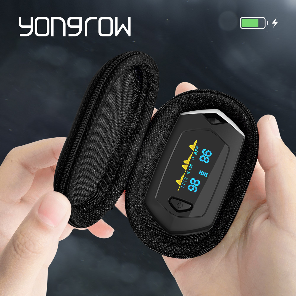 Yongrow Medical sport Finger Pulse Oximeter sport Portable oximeter Real-time data Blood Oxygen Saturation Rechargeable SPO2Yongrow Medical sport Finger Pulse Oximeter sport Portable oximeter Real-time data Blood Oxygen Saturation Rechargeable SPO2