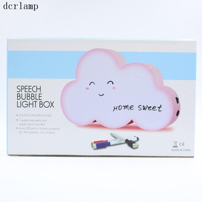 Dcrlamp LED WordPad tablero de escritura cartelera nube de dibujos ...