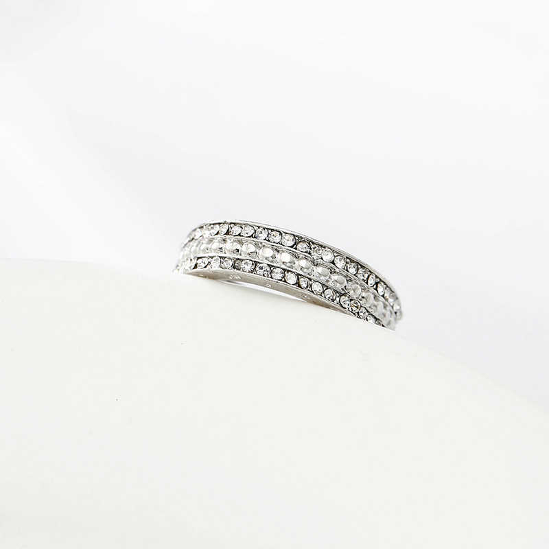 ddf9498a75995 TOGORY Sample Silver Color Sparkling Romance Silver Plated Ring With  Popular Pandora Ring for Women Wedding Jewelry