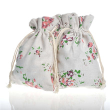 Small Linen Drawstring Wedding favors Gift Bags 10x14cm Wedding Party Candy box Holder Cotton Bag Jewelry Packing Pouch 50Pcs