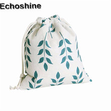Hot Sale 2016 Luxury Wheat Printing Women&Men Drawstring Bag Beam Port Storage Gift Bag High Quality