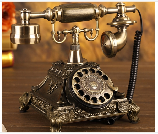 fashion antique telephone household vintage telephone fashion rotation