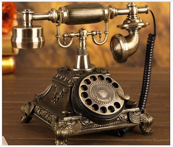 fashion antique telephone household vintage telephone fashion rotation