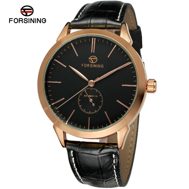 где купить Watches Men Luxury Brand Forsining Automatic Self Wind Mechanical Wristwatches Genuine Leather Strap Relogio Masculino по лучшей цене