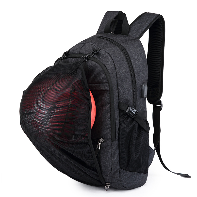 Men Sport Backpack School Bags For Teenager Boys Soccer Ball Pack Bag Gym Bags Male With Football Basketball Net USB Port 30(China)