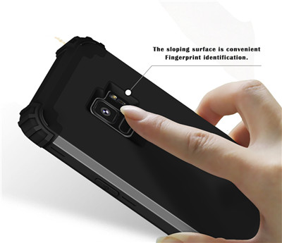 Heavy Duty Hybrid Case For Samsung Galaxy S9 S9Plus Shockproof Armor Rugged Case Cover Hard PC + Soft Rubber Silicone Phone Case (14)