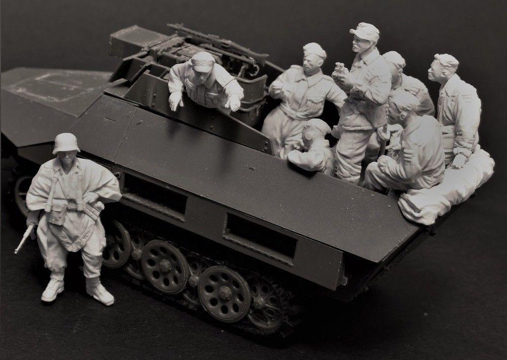 Oyuncaklar ve Hobi Ürünleri'ten Modeli Yapı Setleri'de 1/35 Reçine Şekil Modeli Kiti Unassambled Boyasız 465 (11 figürleri HIÇBIR ARABA)'da  Grup 1