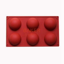 Фотография 6 even the large domed  DIY silicone cake mold soap mold Jelly pudding silicone chocolate molds CDSM-216