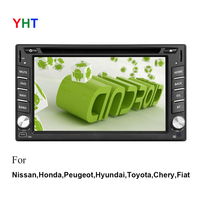 Free Rear View Camera 8.1 Capacitive Android Radio 2 Din Car PC GPS WiFi BT Navigation Universal Stereo DVD Player