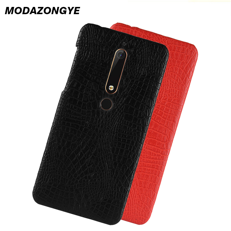 For Nokia 6.1 Case Nokia 6 2018 Case Back Hard Cover Luxury PU Leather Phone Case For Nokia 6.1 2018 TA-1068 TA-1050 Case 5.5