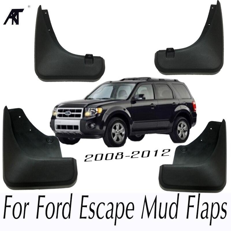 Car Mud Flaps For Ford Escape 2008-2012 Mercury Mariner 2009 2010 2011 Mudflaps Splash Guards Front Rear Mudguards Fender