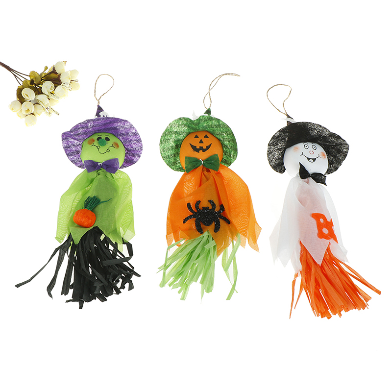 1 Pc 33x17cm Cute Ghost Hanging Hangtag Halloween Decoration Kids Funny Joking Toys Props Halloween Party Supplies Green Festive & Party Supplies