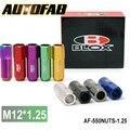 Autofab-blox forjó 7075 aluminio racing tuercas wheellug p 1.25, L: 60mm 20 Unids/set AF-550NUTS-1.25 color Predeterminado es Rojo