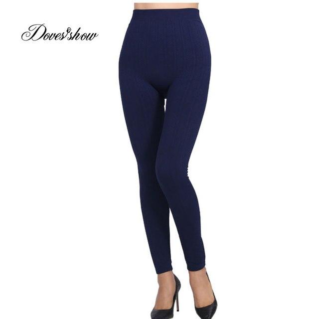 4463faeecb8f93 Slim Women Seamless Leggings Faux Denim Jeans High Waist Solid Printing  Leggings Casual Ankle Length Pencil Pants Thin Fleece