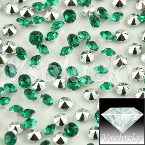 Home & Garden Collection Here Diamond Confetti Green&silver 10000 Pcs/bag 4.5mm 1/3carat Crystal Wedding Table Scatter Decoration Bridal Shower Wedding Party Party Diy Decorations