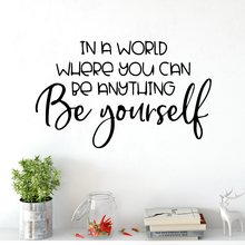 Colorful Be Yourself Quote Wall Sticker Decor For Kids Room Living Decoration Waterproof Art Decal Stickers