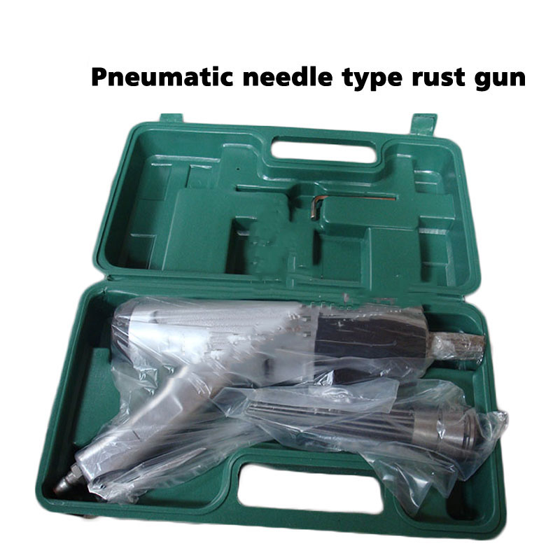 Pneumatic Derusting Gun with Plastic Box Pneumatic Needle Anti rust Gun Rust Removal Air Needle Scaler JEX 28