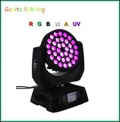 Najnowszy 36*18 w led ruchoma głowa zoom światło do mycia RGBWY + UV 6in1 zoom led ruchome światło myjące etap klub nocny disco bar oświetlenie