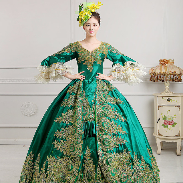 women royal queen costume Newest Gothic Victorian evening dress ...
