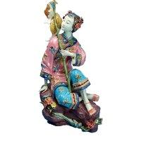 Коллекционные скульптура искусство древних керамические куклы для домашнего декора Античная имитация женская статуя китайской Красоты Бе