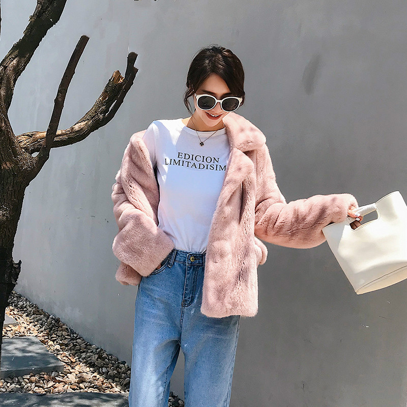 YOLANFAIRY Genuine Fur Jackets Women Winter Warm Thick Furry Mink Fur Coats 2019 Top Quality Campera Mujer Invierno 734 MF369